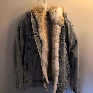 Jean Jacket with Removable Fur